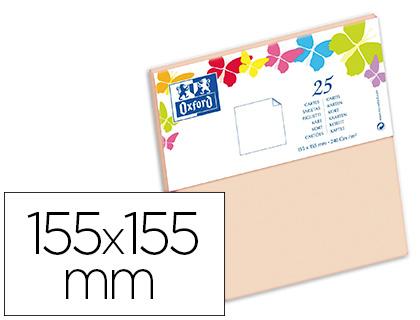 CARTES 155X155MM VANILLE