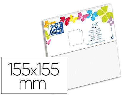 CARTES 155X155MM BLANC