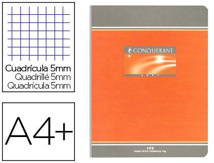 PIQUÉ CONQUERANT SEPT 24X32CM 192 PAGES PETITS CARREAUX