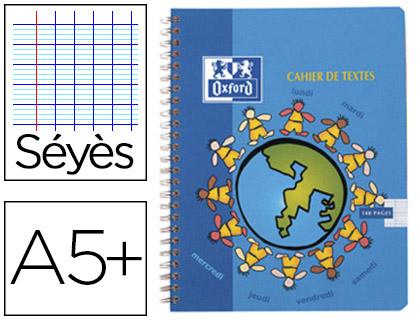 CAHIER DE TEXTE 17X22CM 148 PAGES ASSORTIS