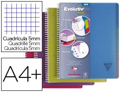 EVOLUTIV\'BOOK 22.5X29.7CM 240 PAGES PETITS CARREAUX ASSORTIS