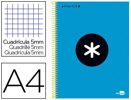 ANTARTIK 21X29.7CM 240 PAGES PETITS CARREAUX BLEU
