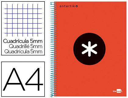 ANTARTIK 21X29.7CM 240 PAGES PETITS CARREAUX ROUGE