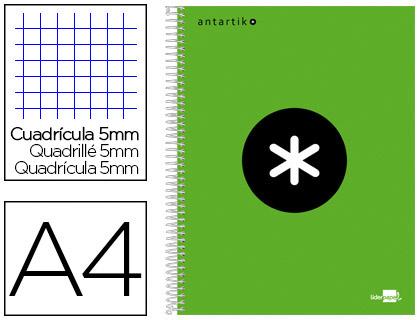 ANTARTIK 21X29.7CM 240 PAGES PETITS CARREAUX VERT FLUO