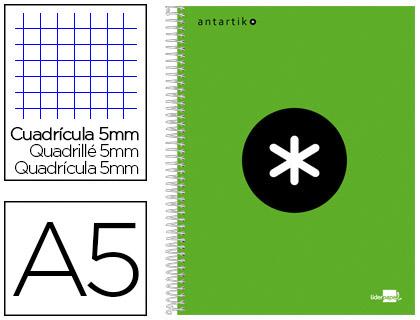 ANTARTIK 14.8X21CM 240 PAGES PETITS CARREAUX VERT FLUO