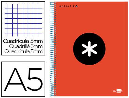 ANTARTIK 14.8X21CM 240 PAGES PETITS CARREAUX ROUGE