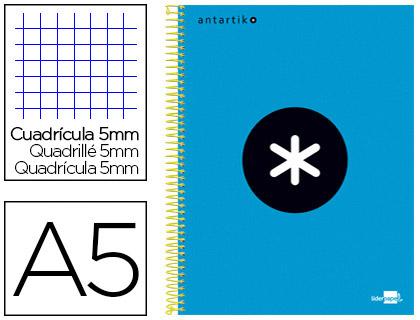 ANTARTIK 14.8X21CM 240 PAGES PETITS CARREAUX BLEU