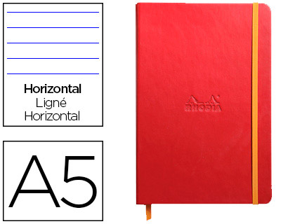 WEBNOTEBOOK A5 192 PAGES LIGNÉES COQUELICOT