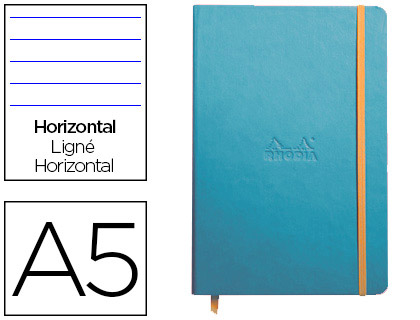WEBNOTEBOOK A5 192 PAGES LIGNÉES TURQUOISE
