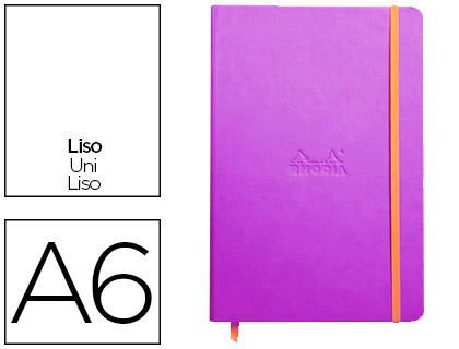 WEBNOTEBOOK A6 192 PAGES UNIES VIOLET