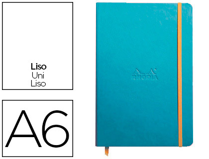 WEBNOTEBOOK A6 192 PAGES UNIES TURQUOISE