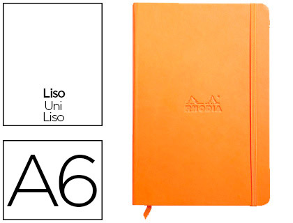 WEBNOTEBOOK A6 192 PAGES UNIES ORANGE