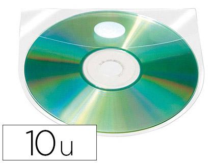 POCHETTES ADHÉSIVES POUR CD AVEC RABATS