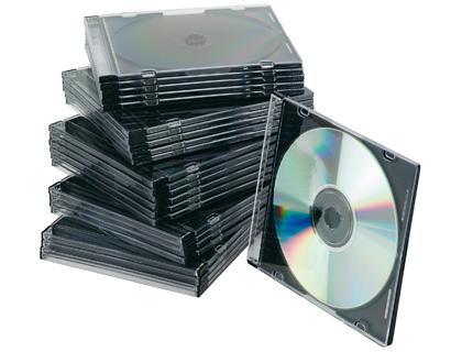 BOITIER SLIM POUR CD/DVD PACK DE 25