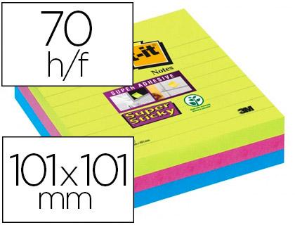 SUPER STICKY GRAND FORMAT 101X101MM LOT DE 3