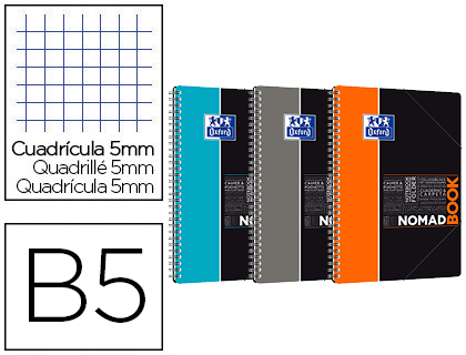 NOMADBOOK OXFORD STUDY B5 160 PAGES 5X5