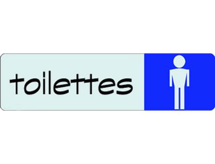 PLAQUE TOILETTES HOMMES 17X4.5CM