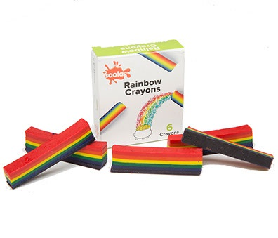 RAINBOW CRAYONS PACK DE 6