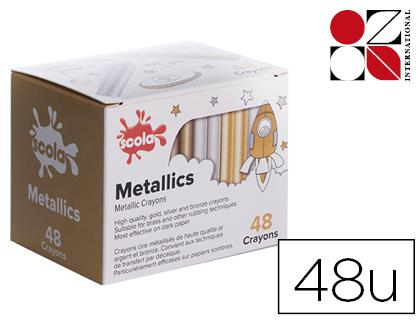 METALLICS CRAYONS PACK DE 48