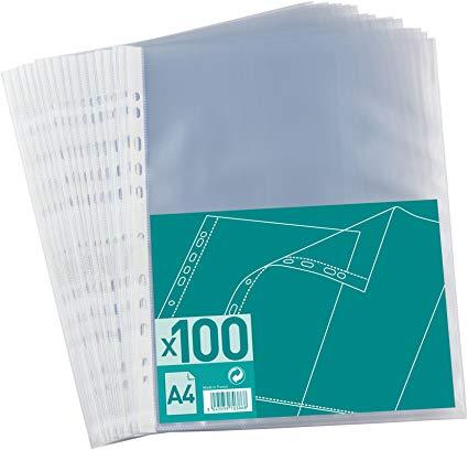 POCHETTES A4 40 MICRONS GRAINÉ PACK DE 100