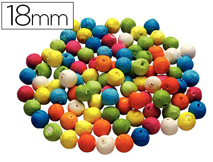 BOULES CELLULOSE ASSORTIS ?18MM