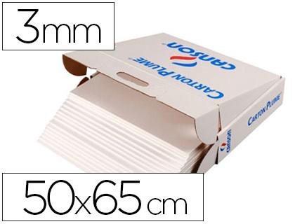 CARTON PLUME 500X660MM ÉPAISSEUR 3MM