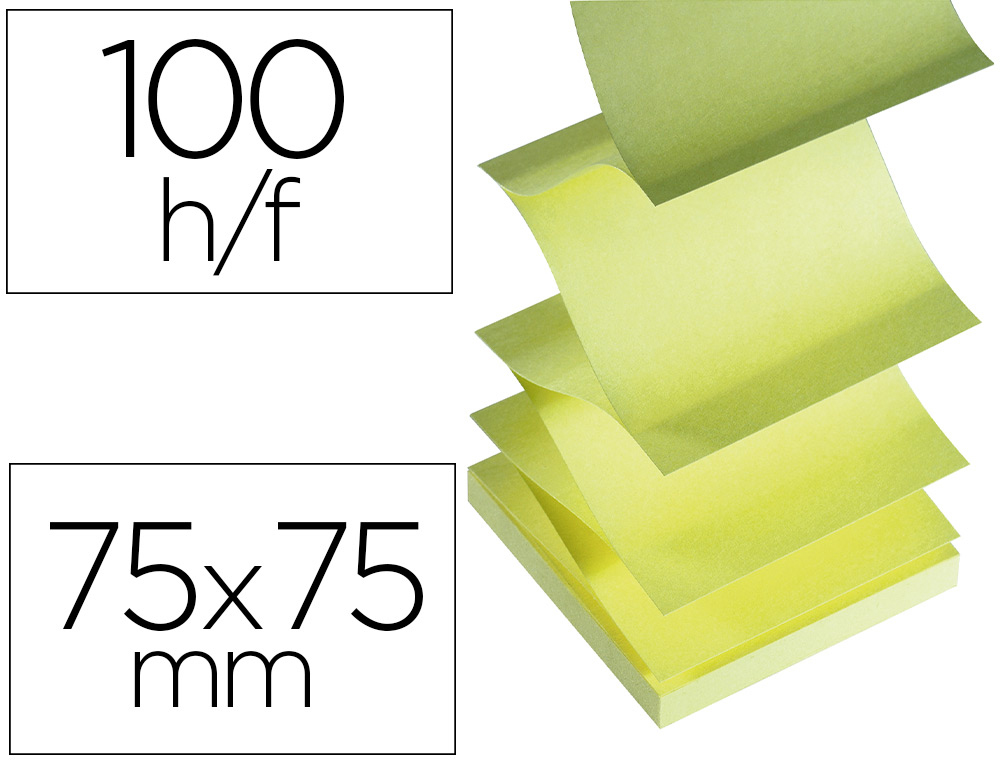 Z-NOTES JAUNE 75X75MM
