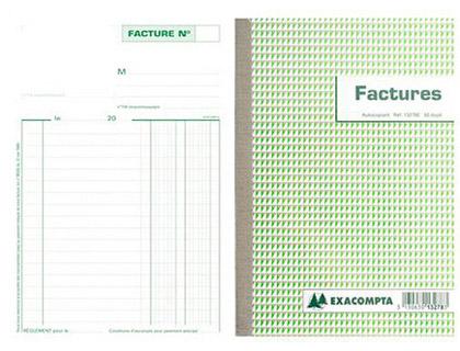 BLOC FACTURES 50 FEUILLETS 140X210MM