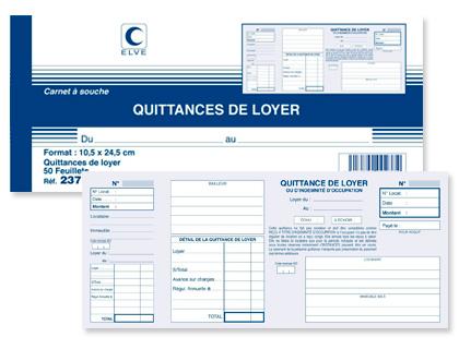 QUITTANCES DE LOYER 105X245MM