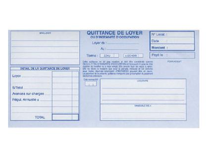 QUITTANCES DE LOYER 105X270MM