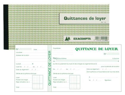 QUITTANCES DE LOYER 105X165MM