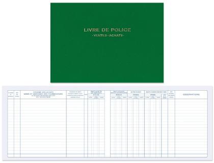 LIVRE DE POLICE MÉTAUX PRÉCIEUX ACHATS/VENTES
