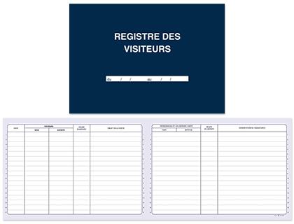 REGISTRE DES VISITEURS