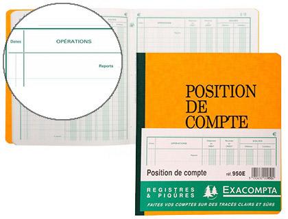 POSITION DE COMPTE 21X19CM