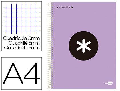 ANTARTIK 21X29.7CM 240 PAGES PETITS CARREAUX LAVANDE