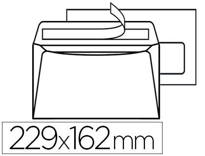 200 ENVELOPPES C5 100G ADHÉSIVES AVEC FENÊTRE 45X100MM