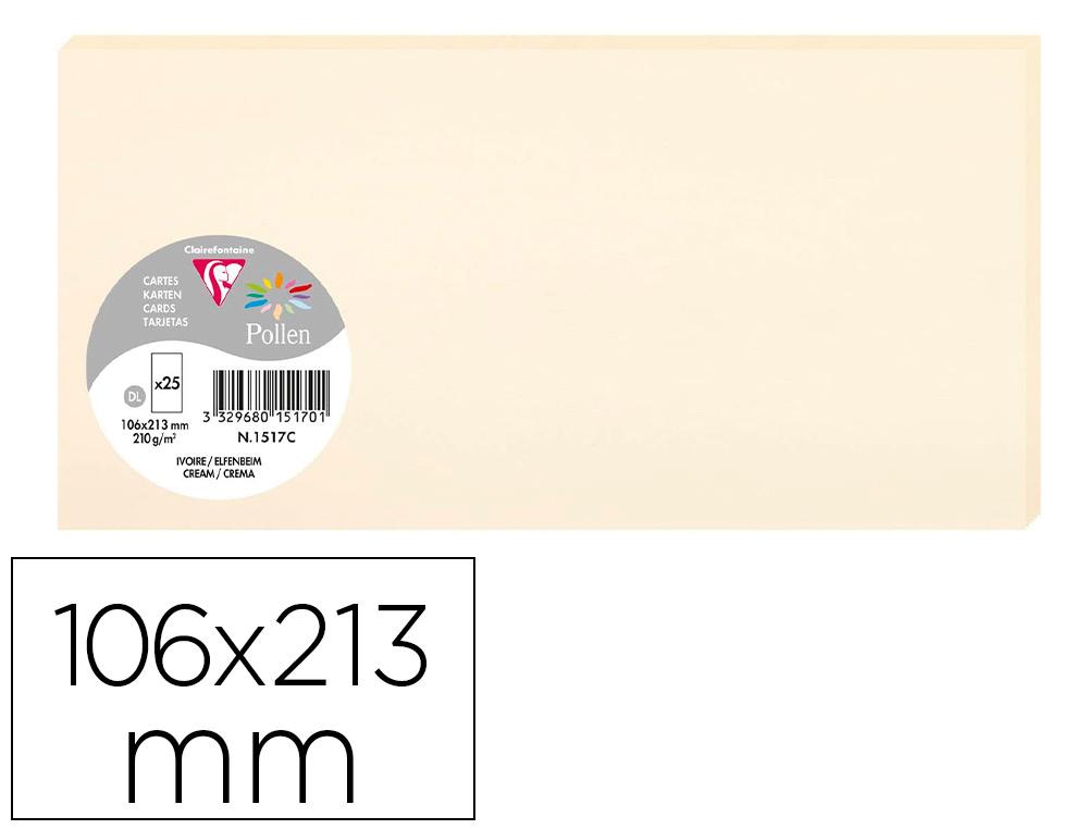 CARTES PRESTIGE POLLEN 106X213MM IVOIRE