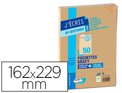 50 POCHETTES KRAFT MILLERAIES C5