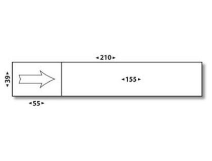 ÉTIQUETTES AFFRANCHISSEMENT SIMPLES 155X39MM