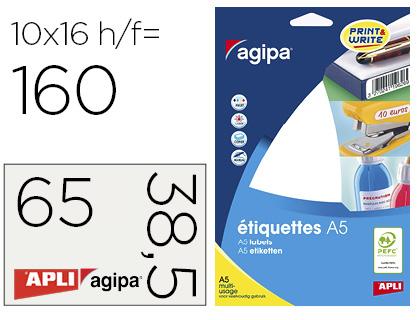 ÉTIQUETTES EN ÉTUI A5 38.5X65MM