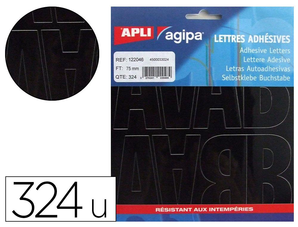 324 LETTRES ADHÉSIVES 75MM
