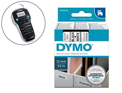 DYMO D1 NOIR/BLANC 12MMX7M PACK DE 10