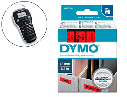 DYMO D1 NOIR/ROUGE 24MMX7M