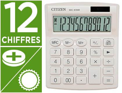 CALCULATRICE SDC-812BN 12 CHIFFRES BLANC