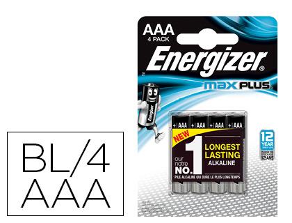PILES MAX PLUS AAA/LR03 PACK DE 4
