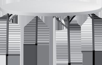TABLE RONDE GRIS CLAIR ?152CM