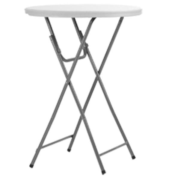 TABLE COKTAIL GRIS CLAIR ?80CM
