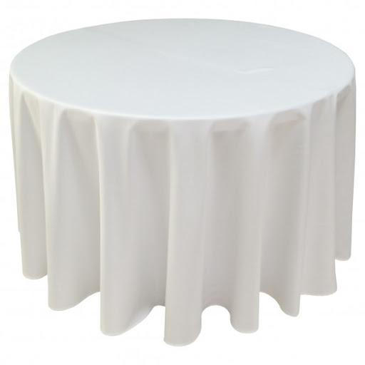 NAPPE BLANCHE POUR TABLE RONDE ?152CM