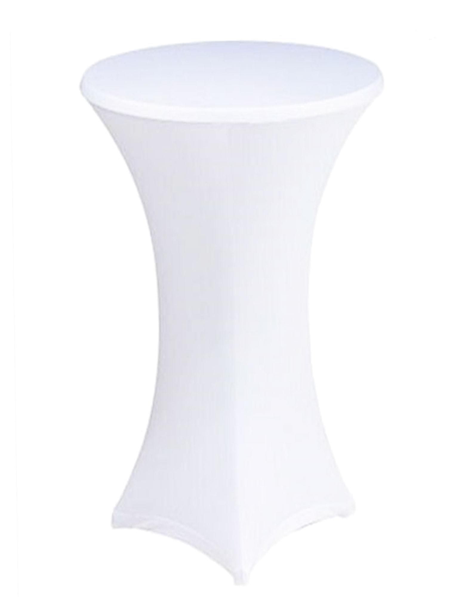 NAPPE BLANCHE POUR TABLE COCKTAIL