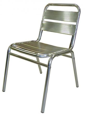 LOT DE 2 CHAISES ALUMINIUM